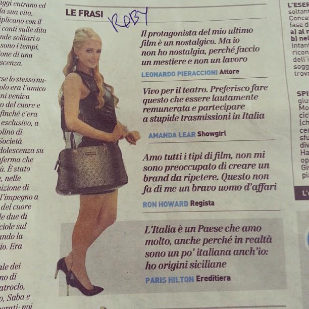 Paris Hilton su Il Giorno