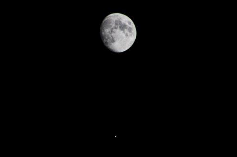 La congiunzione tra la Luna e Giove di Maggio 2017